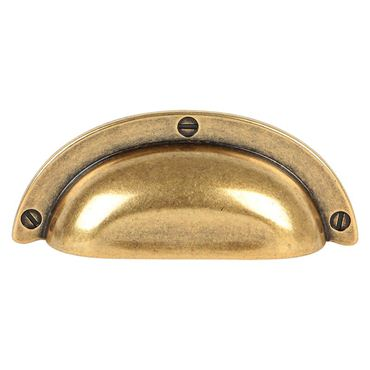 Uchwyt muszelka w wybarwieniu starego złota.