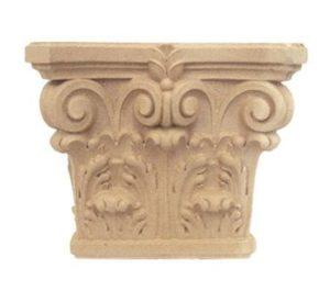 Ornamenty i kapitele z pyłu drzewnego